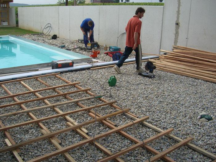 Projektbeispiel verlegung einer poolumrandung mit terrasse for Poolumrandung rundpool